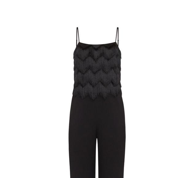 6daa254983bb Brand new BCBG Brianne Eyelash Fringe Jumpsuit. NWT. BCBGMaxAzria